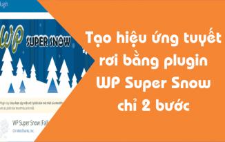 Tạo hiệu ứng tuyết rơi bằng plugin WP Super Snow chỉ 2 bước
