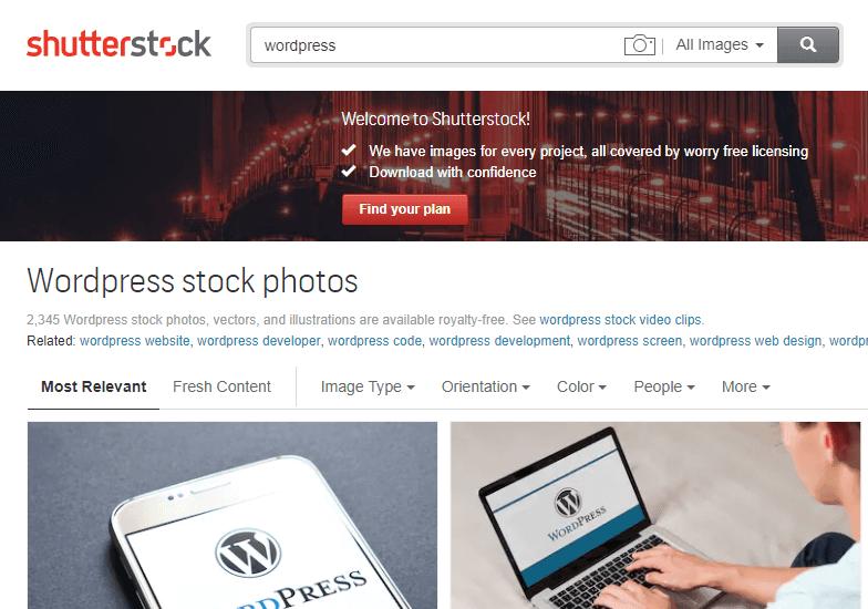 1 Lấy ảnh shutterstock miễn phí và không dính bản quyền