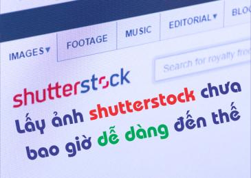 Lấy ảnh shutterstock miễn phí và không dính bản quyền